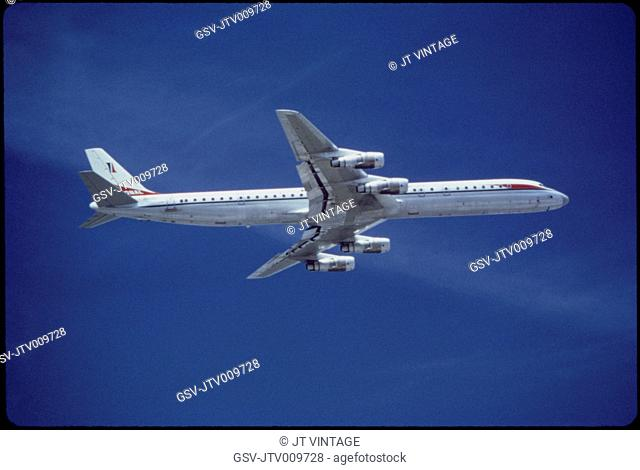National Airlines, Douglas Super DC-8-61 Commercial Airplane In-Flight, 1960's