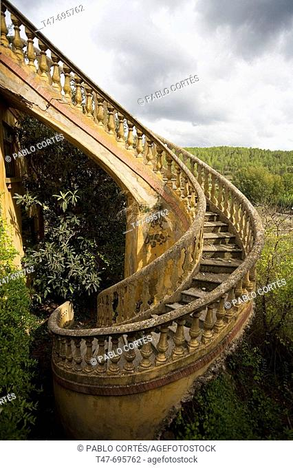 Spiral staircase. Montanejos. Castellón. Spain