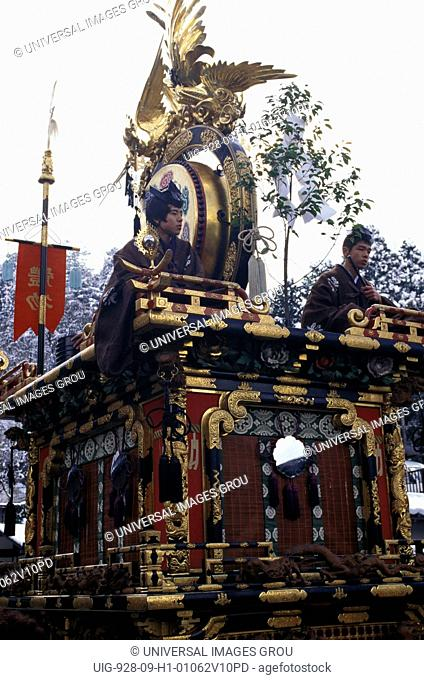 Japan, Takayama. Ornate Float Used In Festival Procession
