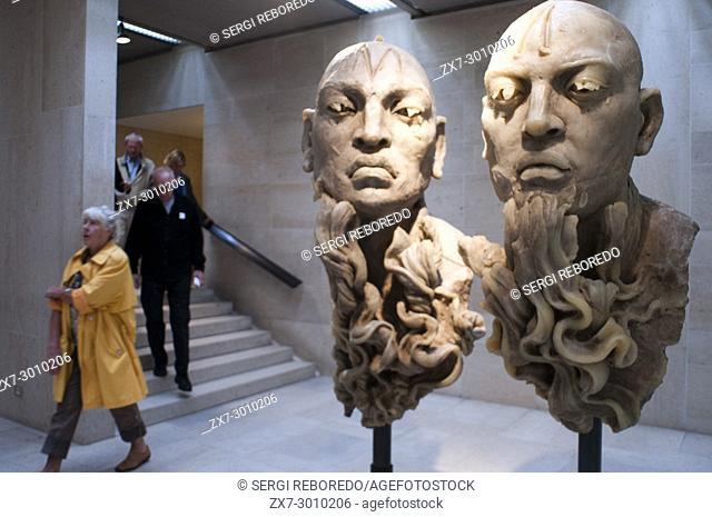 Sculptures at Musées royaux des Beaux-Arts de Belgique, Royal Museums of Fine Arts, Rue du Musée, Brussels, Belgium, Europe