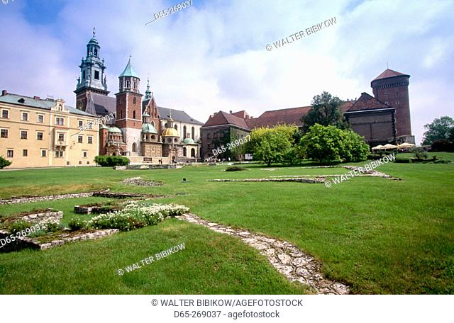 Wawel Cathedral and Castle in Wawel Hill. Krakow. Poland
