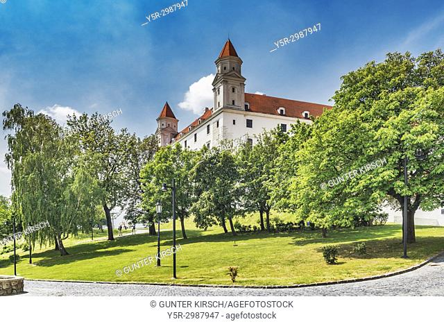Bratislava castle is located in Bratislava, the capital of Slovakia in Europe