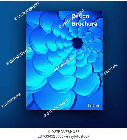 Vector blue squama swirl brochure booklet cover design templates collection