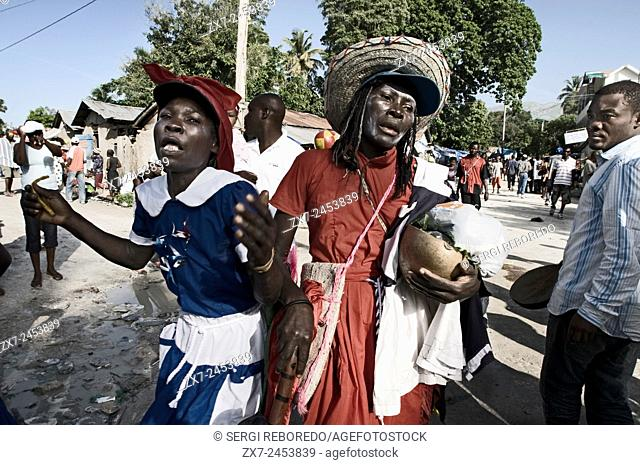 Voodoo Festival in Saut d'Eau, Haiti. Some consult with hougan (priests) or mambo (priestess) by the belief that they are possessed by some of the loas