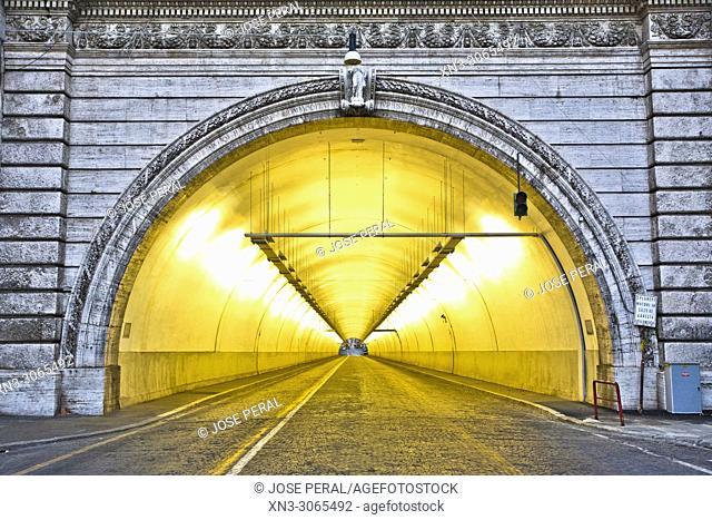 Umberto I Tunnel, Rome, Lazio, Italy, Europe