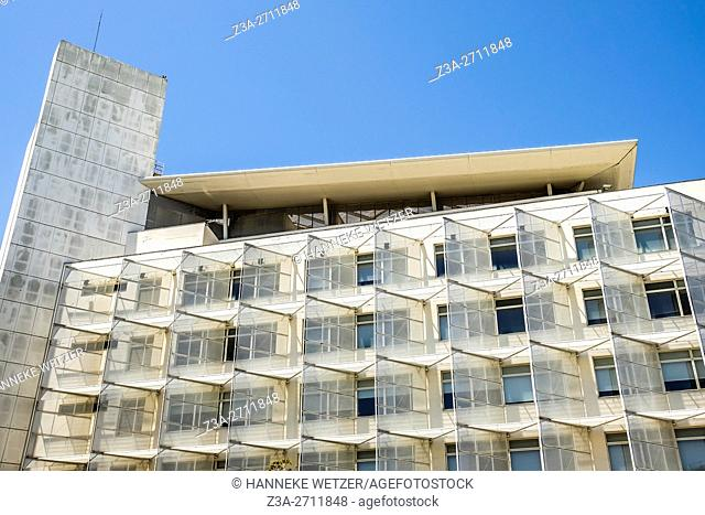 Modern architecture of Parque das Nações in Lisbon, Portugal, Europe