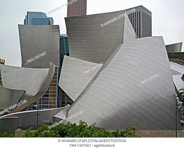 Walt Disney Concert Hall Designed by Architect Frank Gehry. Los Angeles, California