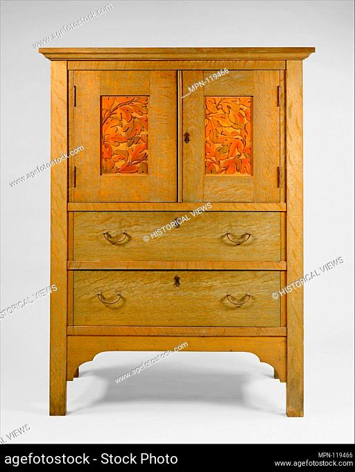 Linen Press. Maker: Byrdcliffe Arts and Crafts Colony (American, 1902-1915); Date: ca. 1904; Geography: Made in Woodstock, New York