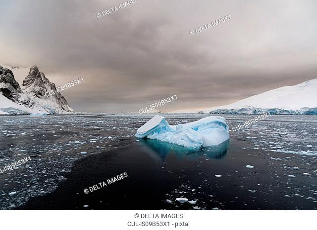 Icebergs in Lemaire channel, Antarctic