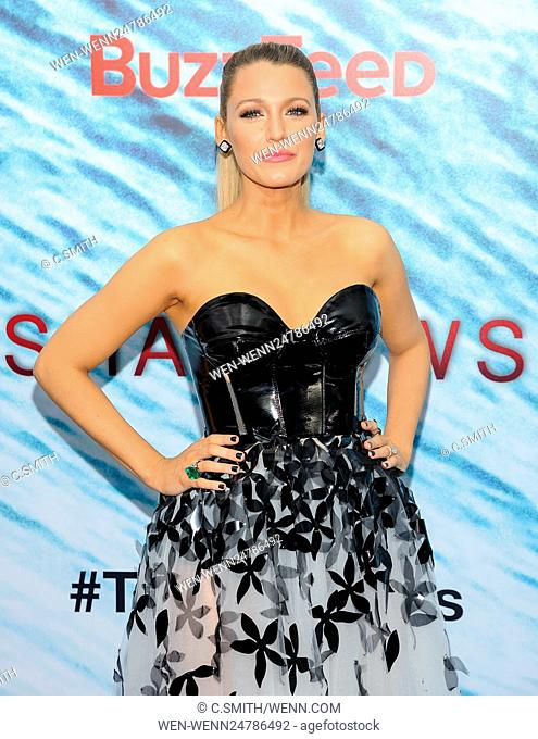 The New York premiere of 'The Shallows' at AMC Lincoln Square Featuring: Blake Lively Where: New York, New York, United States When: 22 Jun 2016 Credit: C
