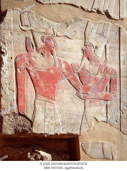 Relief of the Red chapel of Hatshepsut c 1460 BC, Luxor, Egypt