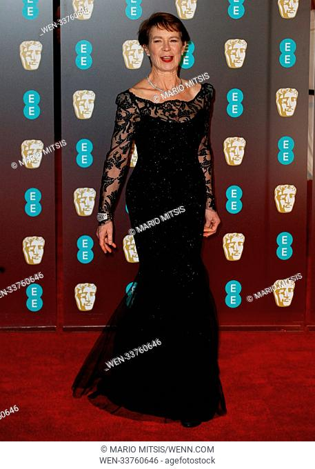 The 71st British Academy Film Awards 2018 held at the Royal Albert Hall - Arrivals Featuring: Celia Imrie Where: London, United Kingdom When: 18 Feb 2018...