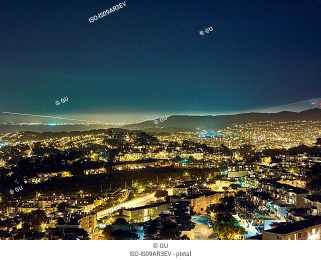 San Francisco viewed from Twin Peaks, San Francisco, California, USA
