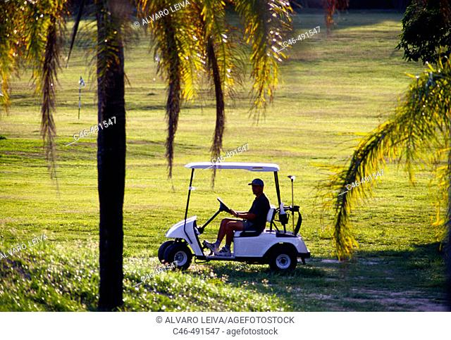 Golf course of Lucayan Country Club, Lucaya. Grand Bahama Island, Bahamas