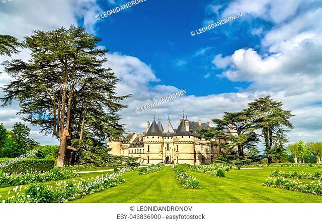 Chateau de Chaumont-sur-Loire, a castle in the Loire Valley of France, Loir-et-Cher department