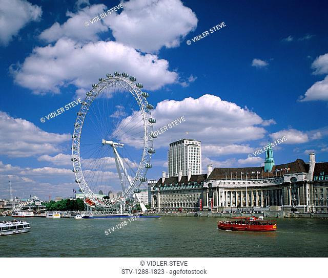 Amusement, Amusement park, Boats, England, United Kingdom, Great Britain, Europe, Ferris wheel, Holiday, Landmark, London, Londo