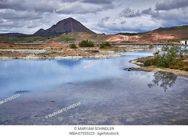 Iceland, Myvatn, geothermal activity in krafla area, ringroad