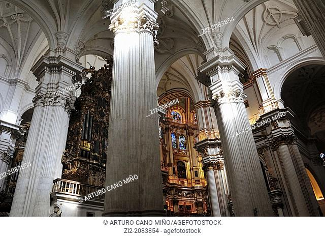 Inner view, Cathedral, Granada, Spain