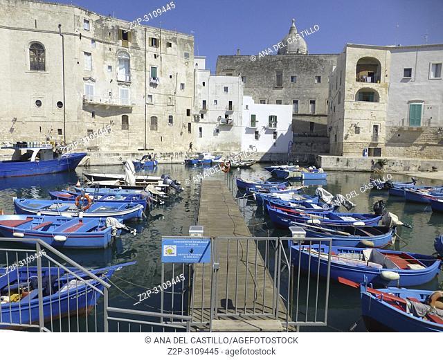 Port in Monopoli. Puglia, Italy