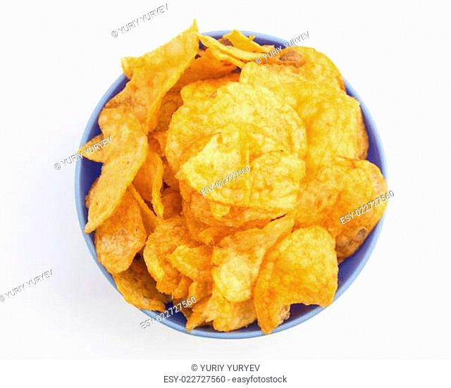 Background potato chips