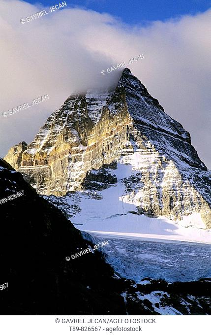 Mount Assiniboine 3618 m the highest peak in the southern Continental range of the Canadian Rockies, Canada