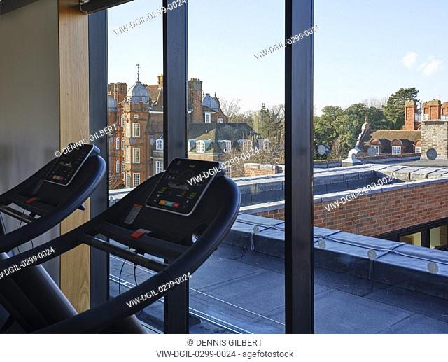 From gym towards rooftops. Newnham College, Cambridge, Cambridge, United Kingdom. Architect: Walters and Cohen Ltd, 2018