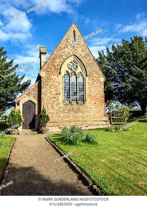 Church of England Church of St John a Former Wesleyan Chapel at Minskip near Boroughbridge Yorkshire England