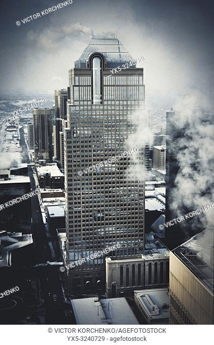 Downtown Calgary in winter