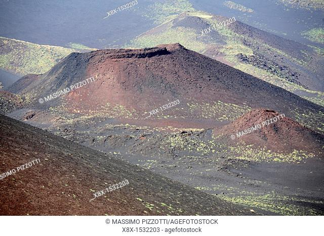 Minor crater of Etna volcano, Sicily, Italy