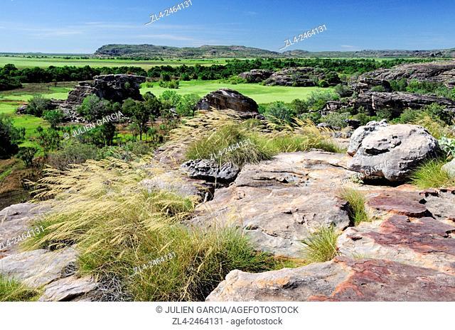 Australia, Northern Territory, Kakadu National Park listed as World Heritage by UNESCO, Ubirr Rock