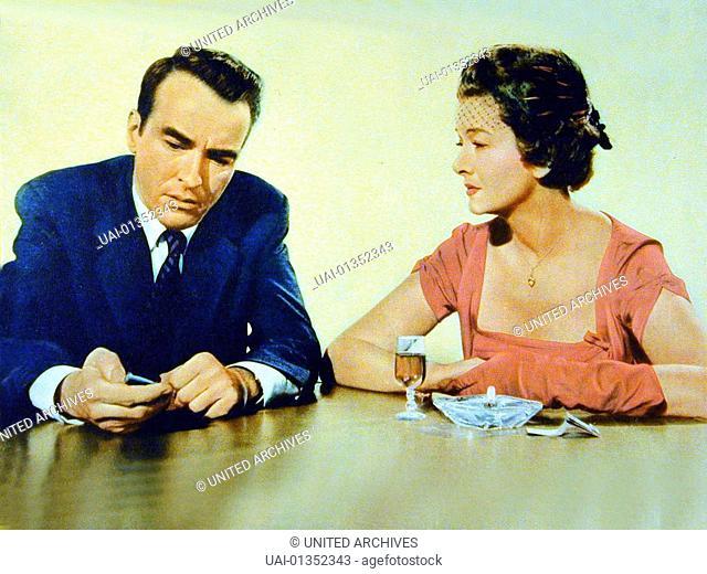 Montgomery Clift, Myrna Loy Adam White (Montgomery Clift) schreibt auf Anordnung seines Verlegers widerwillig eine Kolumne fuer einsame Herzen