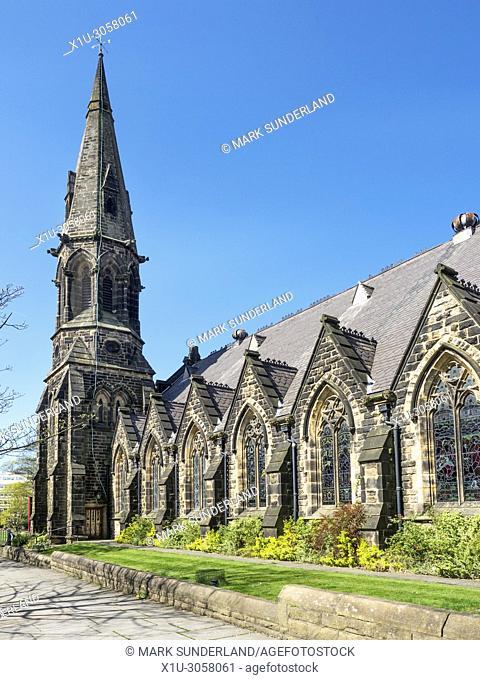 West Park United Reformed Church in Spring Harrogate North Yorkshire England