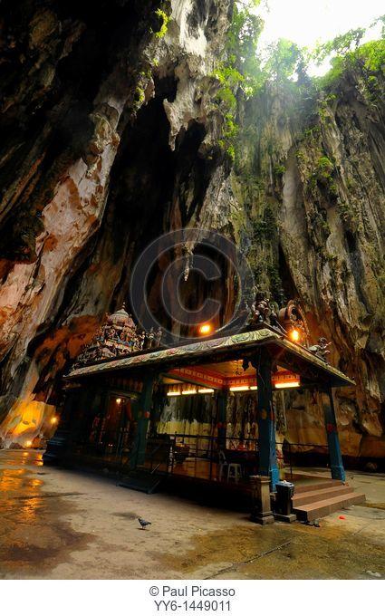 Lord Murugan Temple inside Batu Caves, sacred place of worship for hindu people , kuala lumpur, Malaysia