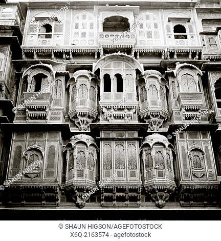 Patwon Ki Haveli in Jaisalmer in Rajasthan in India