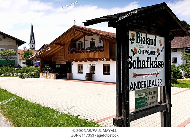 Farmers Shop to Sell Products Direct to the Public and Murchants, Frasdorf Upper Bavaria Germany