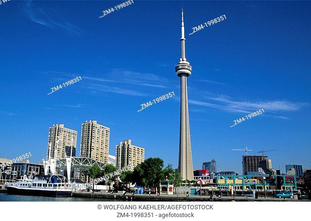 CANADA, ONTARIO, TORONTO, HARBORFRONT CENTER, CN TOWER
