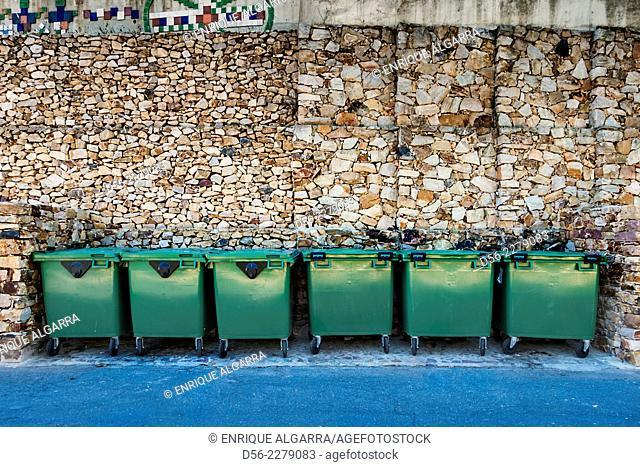 rubbish containers, Ain, Castellon province, Spain
