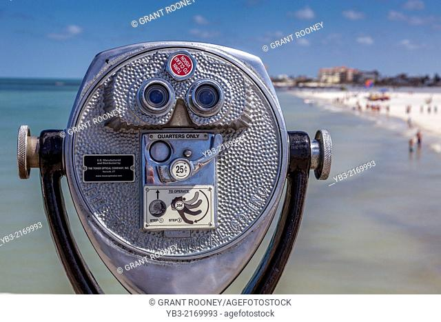 Telescope On The Pier, Clearwater Beach, Florida, USA