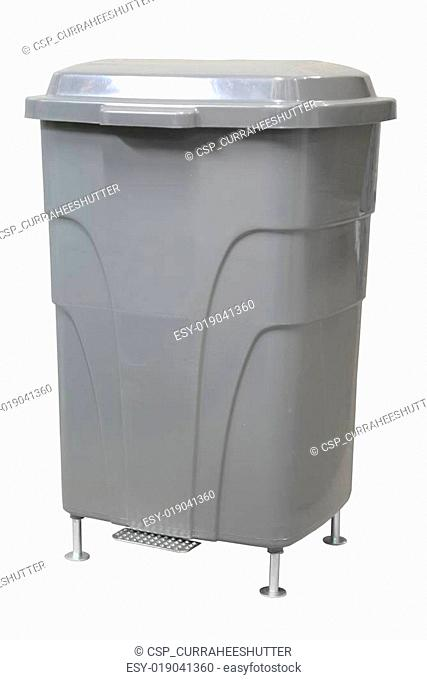 Plastic bin on white background