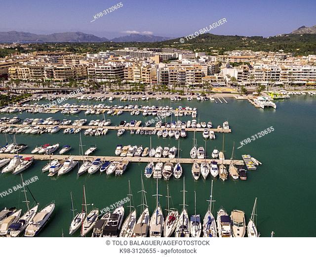 puerto deportivo, Port d Alcudia, Mallorca, balearic islands, Spain
