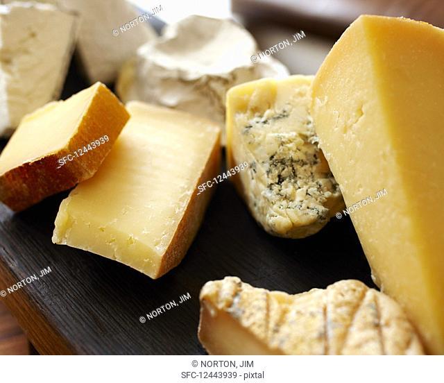 Various cheeses (close up)