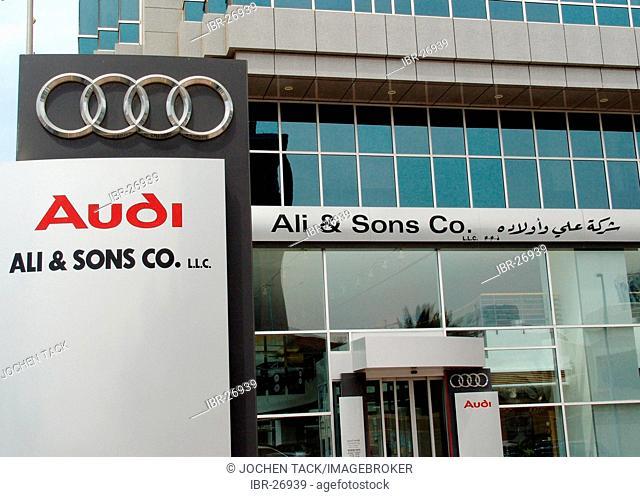 ARE, United Arab Emirates, Abu Dhabi:German car dealer Audi branch office