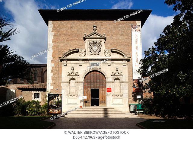 France, Midi-Pyrenees Region, Haute-Garonne Department, Toulouse, Musee des Augustins museum, entrance