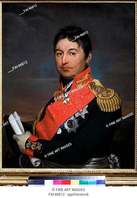 Portrait of General Alexander Dmitriyevich Balashov (1770-1837) by Varnek, Alexander Grigoryevich (1782-1843)/Oil on...