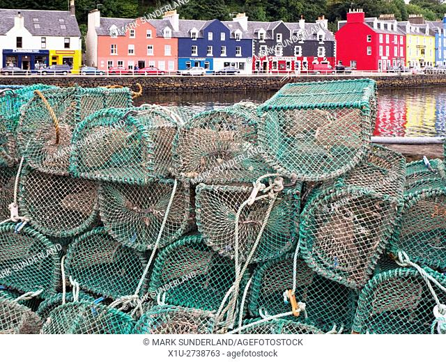 Lobster Post at the Harbour in Tobermory Isle of Mull Argyll and Bute Scotland