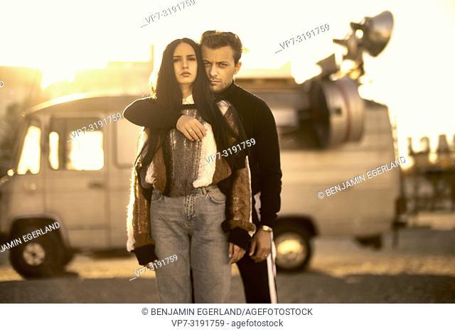portrait of couple, bloggers Adem Bayalan, Emine Feruz Bayalan