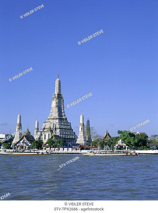 Asia, Bangkok, Chao, Holiday, Landmark, Phraya, River, Temple of dawn, Thailand, Tourism, Travel, Vacation, Wat arun