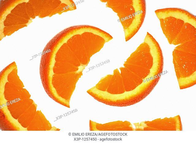 Oranges backlit