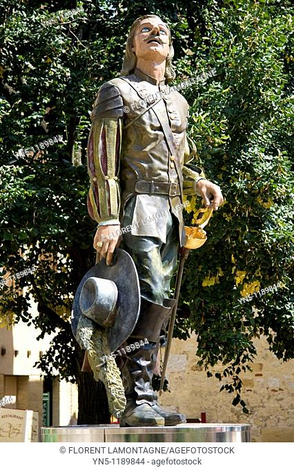 France, Aquitaine province, Departement of Dordogne 24, Bergerac   Statue of Cyrano de Bergerac who carries the name of this famous city of Dordogne  This hero...