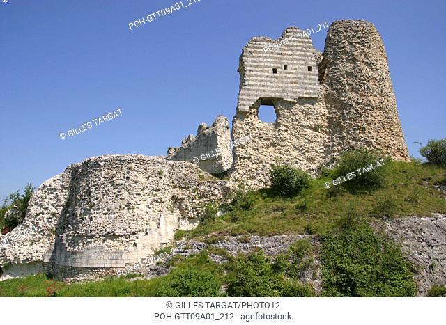 tourism, France, upper normandy, vallee de la seine, valley, eure, les andelys, chateau gaillard, dungeon, relic, richard plantagenet the lionheart